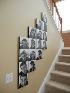Wow!  Look at this amazing use of 16 different canvas prints!