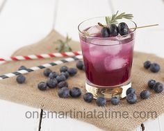 #BEVERAGE - Blueberry Lavender Cocktail - One Martini at a Time