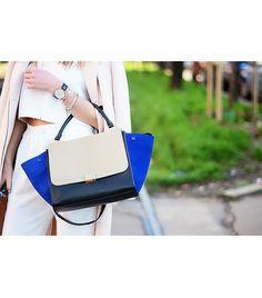 @Who What Wear - Sugerencia del editor: No tengas miedo de mezclar los metales y texturas!  Imagen a través de Fashion Vibe