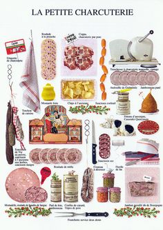 General Picture Group: Multiple of small delicatessen pictures. French Teaching Resources, Teaching French, How To Speak French, Learn French, Charcuterie, French For Beginners, Food Vocabulary, French Expressions, French Phrases