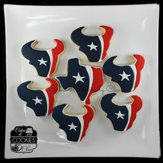 Houston Texans Logo Football Cookies