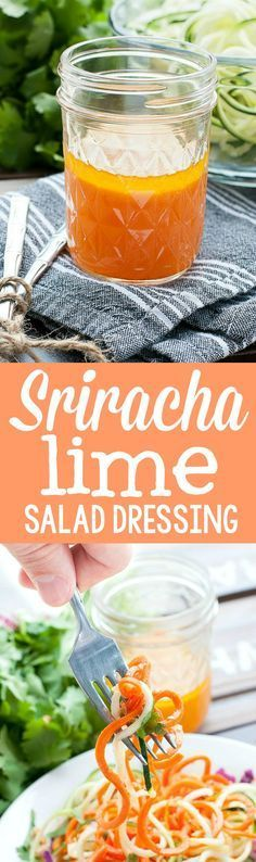 Quick, easy, and full of flavor, this Thai-inspired Sriracha lime vinaigrette is sure to be your new favorite salad dressing!