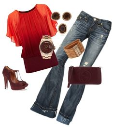 """Jeans & Blouse"" by celene310 on Polyvore"