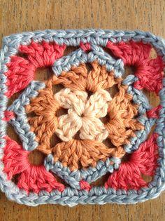 Sample crochet motif.I have to make samples before deciding which ones to use!
