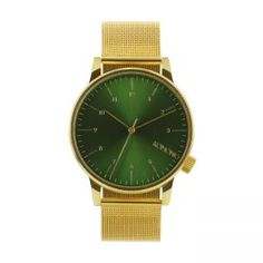 Winston Royale Gold Watch with Green Face