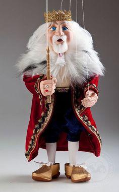 Marionette Prague Gaudeo Czech Handcrafted Puppet King & Queen Marionette Puppets