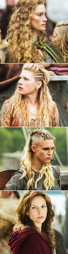 The gods will always smile on brave women. #vikings