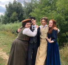Anne with an E cast, behind the scenes Gilbert Blythe, Anne Shirley, Amybeth Mcnulty, Gilbert And Anne, Anne White, Cuthbert, Bridesmaid Dresses, Wedding Dresses, Actors & Actresses