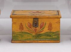 Miniature painted and decorated box, attributed to Jacob Weber, 1845
