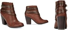 Material Girl Mini Strapped Booties, Only at Macy's