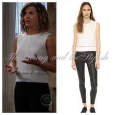 Shop #TheYoungandtheRestless May 2016: Chelsea's White Sleeveless Ring Detail Blouse