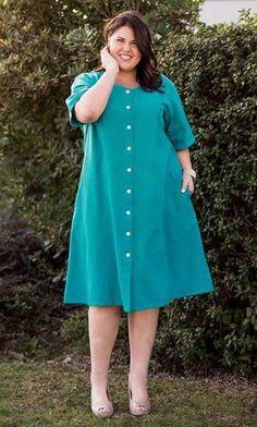 Crinkle cotton classic dress – Plus Size Fashion Casual Plus Size Outfits, Stylish Plus Size Clothing, Girly Outfits, Plus Size Dresses, Plus Size Fashion, Latest African Fashion Dresses, Women's Fashion Dresses, Fashion 2017, Womens Fashion
