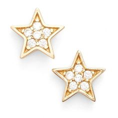 Galleria armadoro 'Star' Stud Earrings ($48) ❤ liked on Polyvore featuring jewelry, earrings, 18k earrings, 18 karat gold jewelry, star jewelry, stud earrings and post earrings