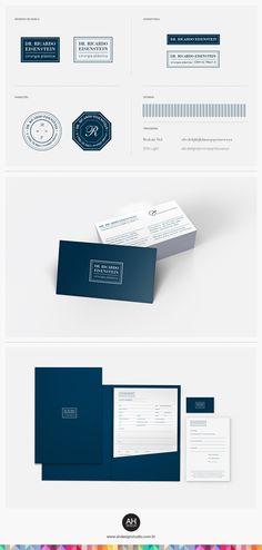 AHdesign Studio, Identidade Visual para o cirurgião plástico Dr. Ricardo Eisenstein #design, #graphicdesign, #idvisual, #branding, #corporatedesign, #businesscard, #papelaria, #logodesign, #logomarca, #plasticsurgery, #medicine, #ahdesignstudio