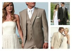 Tan Suits for Groomsmen   ... Weddings, One Project At A Time » {Inspiration Board} Groomsmen Style