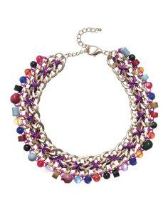 SuiteBlanco- Collar cadena abalorios