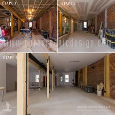 Step by step for the first floor on a commercial renovation