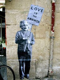 Einstein - Love is the Answer, Mr. Brainwash  www.mrbrainwash.com