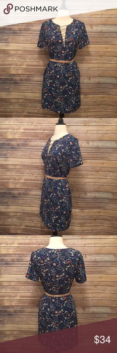 "Blue Lush Dress Beautiful blue Lush dress.  Belt not included.  Length 33"" Lush Dresses"