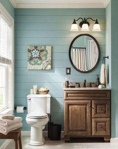 Nice 45 Vintage Farmhouse Bathroom Remodel Ideas On A Budget. More at https://trendecorist.com/2018/02/12/45-vintage-farmhouse-bathroom-remodel-ideas-budget/ #vintagebathrooms #farmhousebathroomideas