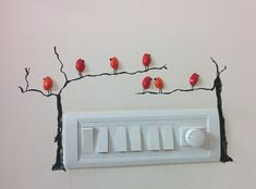 House Electric Board Design Electric Board Decoration Sai In 2019 Wall Painting Switch Board Art Electric Board Design Part 2 Dreame House Switch Board Art Electric Board Design Arts And Crafts Projects, Diy Home Crafts, Design Crafts, Wall Art Designs, Wall Design, Pista Shell Crafts, Doodle Wall, Creative Wall Decor, Wall Painting Decor