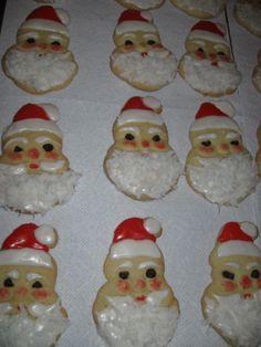 Aunt Chick's santa cookies