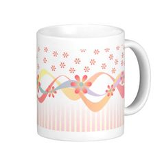 Start your day off right with a custom mug! Sip from one of our many Peach coffee mugs, travel mugs and tea cups offered on Zazzle. Pink Ribbons, Custom Mugs, Pretty In Pink, Den, Tea Cups, Coffee Mugs, Peach, Stripes, Cool Stuff
