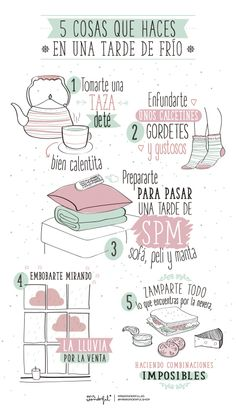Infographics make for great authentic reading materials! Example for when teaching about weather: 5 cosas que haces en una tarde de frío. This Is Your Life, Way Of Life, Mr Wonderful, Bullet Journal School, Life Motivation, Self Care, Happy Life, Challenges, Positivity