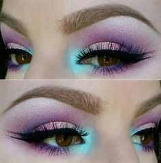 Mermaid color eye makeup
