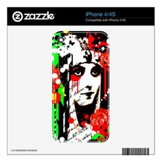 #Nostalgic Seduction - Zombie Queen Roses Decals For The iPhone 4S - #Halloween #happyhalloween #festival #party #holiday