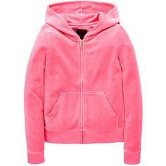 Juicy Couture Girls Velour Scottie Crest Hooded Jacket ($91) ❤ liked on Polyvore featuring tops, hoodies, logo hoodies, velour hoodie, pink zipper hoodie, velour hoodies and sweatshirt hoodies