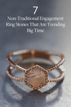7 Non-Traditional Engagement Ring Stones That Are Trending Big Time Diamond Engagement Ring for the Unconventional Bride Wedding Rings 2019 Engagement Ring Buying Guide, Best Engagement Rings, Solitaire Engagement, Gemstone Engagement Rings, Jewelry Rings, Fine Jewelry, Jewellery Box, Gold Jewelry, Jewlery