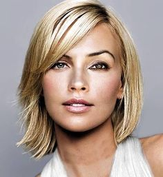 New The Smart Medium Straight Blonde Bob Lace Front Wig For Smart Lady