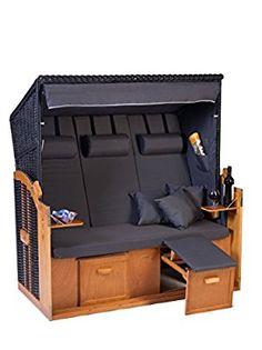 Luxury Strandkorb Scharbeutz XXL NAN Quattro Design zerlegt Strandk rbe Ostee Liegemodell cm breit ScharbeutzGarten M belStrandkorb