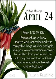 Blood Of Christ, 1 Peter, You Are The Father, Blessed, Day