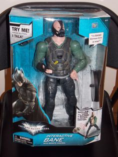 The Dark Knight Rises Batman Interactive Bane Talking Action Figure New In Box $69.99 Free Shipping!!