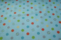 Riley Blake Life in the Jungle Polka Dots Punkte bunt Meterware 50cm x 112cm