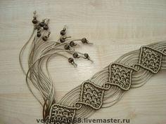 Вероника Медведева, Плетеный пояс Атласный каприз, макраме / Veronica Medvedev, braided belt Satin hair, needlework