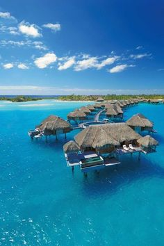 Four Seasons Resort, Bora Bora, Tahiti We want to go here for our 25th Wedding Anniversary!