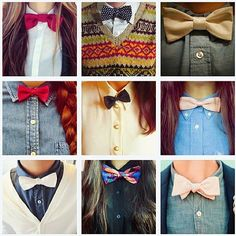 Women have also adopted this style and there are bow ties for ladies! So, bow ties for ladies? Androgynous Fashion, Tomboy Fashion, Mens Fashion, Fashion Trends, Androgyny, Fashion Tips, Style Fitness, Tomboy Stil, Turbans