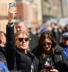 The 75-year-old was excited to take part in the event and took photographs on his phone