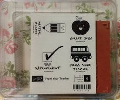 Stampin' Up! Retired FROM YOUR TEACHER WM Rubber Stamp Lot/4 First Day HTF NEW! in Crafts, Stamping & Embossing, Stamps | eBay