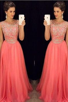New 2016 Prom Dress,Strapless Orange Prom Dresses, Tulle Prom Dress, Long Prom Dress, Dresses For Prom, Fashion Prom Dress,Formal Women Dress