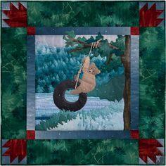 Road Trip Pattern Bearly Tire-d #appliqué quilt block pattern from McKenna Ryan Designs