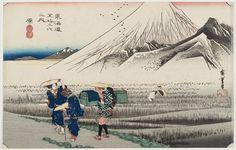 14 原(朝の富士)|歌川広重|東海道五十三次