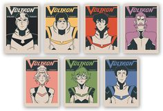 """- Inspired by Voltron: Legendary Defender - Set of 7 Fine Art Giclee Prints - Limited Edition of 45 - Approximately 5"""" x 7"""" each DreamWorks Voltron Legendary Defender © 2016 DreamWorks Animation LLC."""