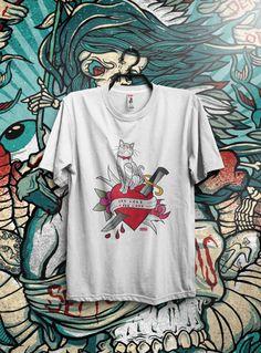COLECCIÓNTATTOO. Impresión con tintas al agua sobre prendas de algodón orgánico, 100% ecológicas. EDICIÓN LIMITADA. https://josemitadinamita.wordpress.com/category/t-shirts-tattoo-coleccion/