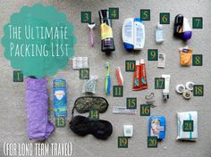 The ultimate guide to packing for a long trip or gapyear.
