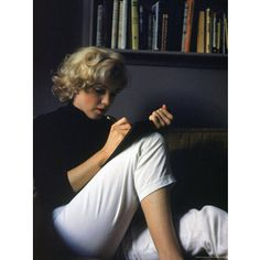 Marilyn Monroe Writing at Home Premium Photographic Print