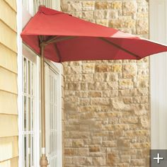 Outdoor Half Umbrella with Pole is the perfect shade over a door, on a balcony, or along walls or windows. Mounting is not necessary — a sturdy base keeps the half-umbrella tightly against any flat surface.